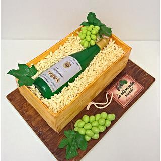 Wine Bottle - Cake by Irina-Adriana