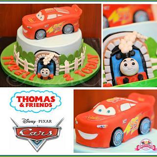 Lightening McQueen & Thomas The Tank