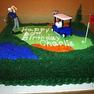 Golf lover's cake