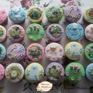 Vintage Alice in Wonderland Cupcakes - Cake by Charmed Bakehouse