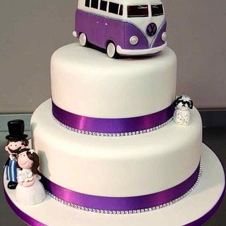 VW Campervan Wedding - Cake by Symphony in Sugar