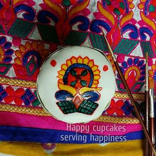 fabric print decoration  - Cake by Heena Sagani
