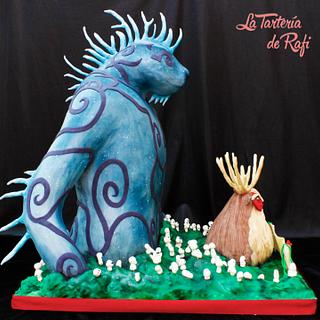 Princess Mononoke: Nightwalker/Spirit of the forest (Studio ghibli cake collaboration)