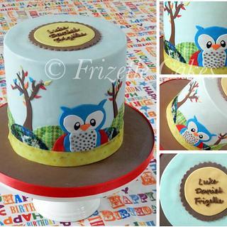 Double barrelled owl cake  - Cake by Frizellecakes