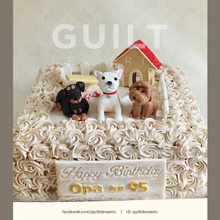 Grandpa <3 Dogs - Cake by Guilt Desserts