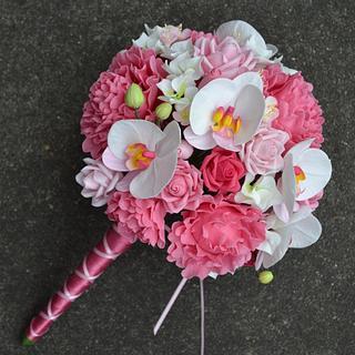 Cold porcelain weddingbouquet - Cake by Liselotte (Taartje van Lot)