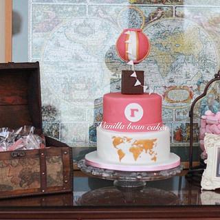 Vintage around the world cake