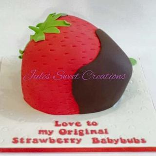 Strawberry Shaped Cake - Cake by Jules Sweet Creations