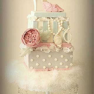 Floral Shoe Box Cake - Cake by Sihirli Pastane