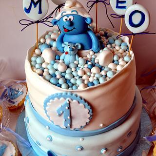 The Baby Smurf Cake