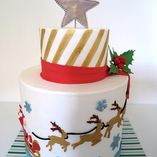 White Christmas Cake - Cake by Leela's Cake