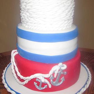 Nautical Theme cake  - Cake by Laura