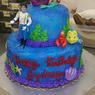 Ariel the Little Mermaid - Cake by Allyson Thornley