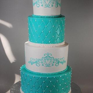 Disney Inspired Princess Blue Buttercream Wedding