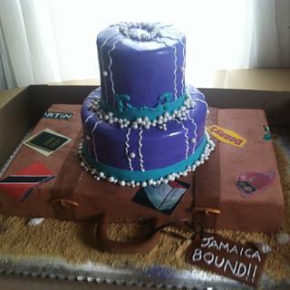 Bridal Shower Cake - Travel Theme