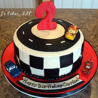 Race Car Cake - Cake by Amanda Reinsbach