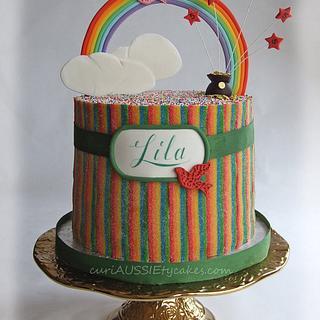 Rainbow sours cake