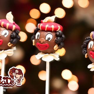 """Cake pops Sinterklaas 'Saint-Nicholas) """"Pietjes"""""""