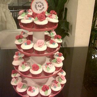 roses cupcakes