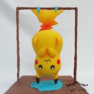 Picachu colgado cake 3D