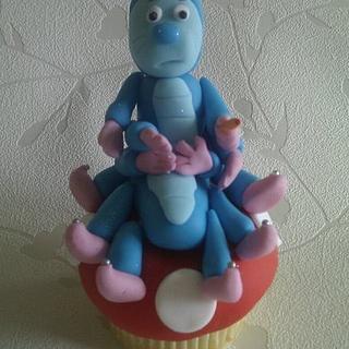 Caterpillar from Alice in Wonderland Cupcake