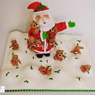 Santa in the Teddy land