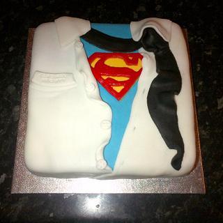 Superman Themed Cake.