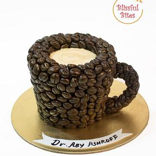 Coffee bean mug cake