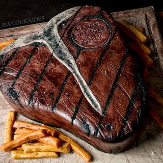 Giant T-Bone Steak Cake