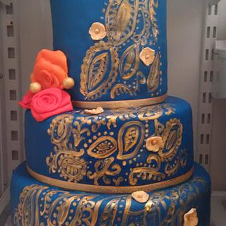 Indian Bridal outfit inspired cake