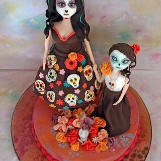 """""""Flores para los muertos"""" - Cake by Devoted To Cakes"""