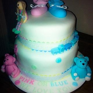 Baby shower cake :0)