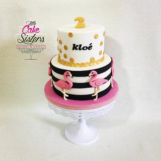 flamingo cake - Cake by little cake sisters