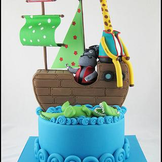 Animal Pirate ship - Cake by Chantel's Cakery