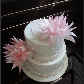 Wafer paper flower again! - Cake by Maaria