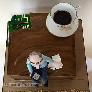 Tony - Retirement Cake - Cake by Niamh Geraghty, Perfectionist Confectionist