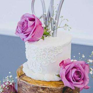 Boho Chic Tree Wedding Cake