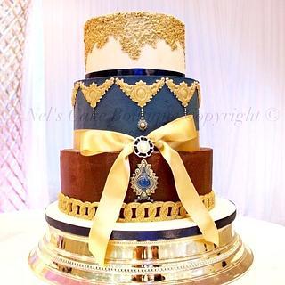 Chocolate Ganache Regal wedding cake