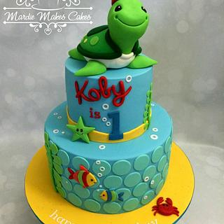 1st Birthday Turtle