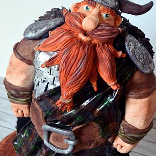 Viking inspired in Stoick from How to train your dragon. @evangeline.cakes - Cake by Evangeline.Cakes