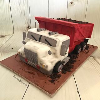 Dump truck  - Cake by Shikha