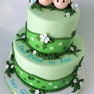 Two Peas in a Pod  - Cake by MimisSweetTreats