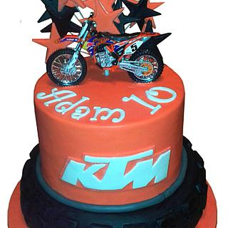 motorcross bike cake