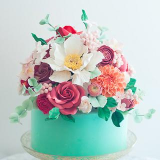Floral Mint Cake