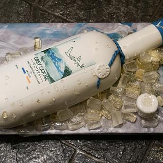 Magnum size Grey Goose vodka bottle cake
