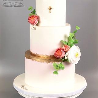 Pink ombré Communion Cake