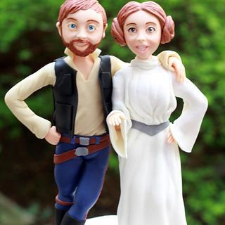 Star Wars Wedding Cake Topper - Cake by Valentina's Sugarland
