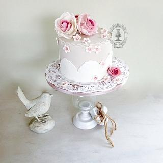 Lace & Roses - Cake by Firefly India by Pavani Kaur