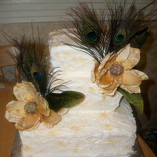 Peacock & Magnolia wedding