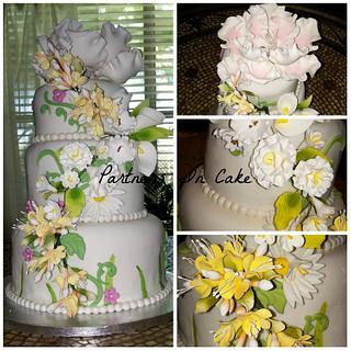 Garden Wedding - Cake by Partners In Cake